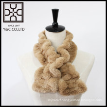 New design Light Brown Fake Fur Snood