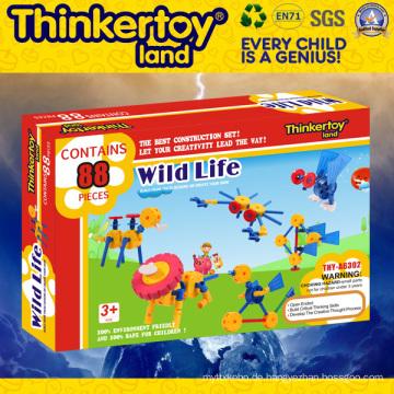 Thinkertoyland 3+ Kinder DIY Open End Gebäude Spielzeug