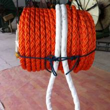 Polyester Rope 80mm 8 Strands Orange