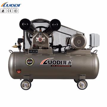 Compressor de ar conduzido correia da indústria elétrica do pistão portátil do carro de 2hp 100L
