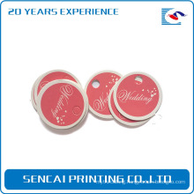 SenCai pink background with wedding letter round tag
