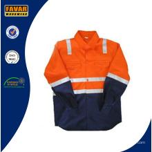 En471 Детский Хлопок Оранжевый Желтый Розовый Высокий Vis Защитная рубашка безопасности