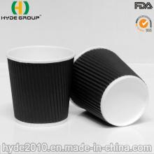 Pequeno 100 ml 4 oz Ripple Coffee Paper Cup para Degustação (4 oz)