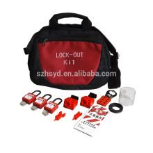 Série de sécurité de verrouillage maître, sac en nylon, rouge