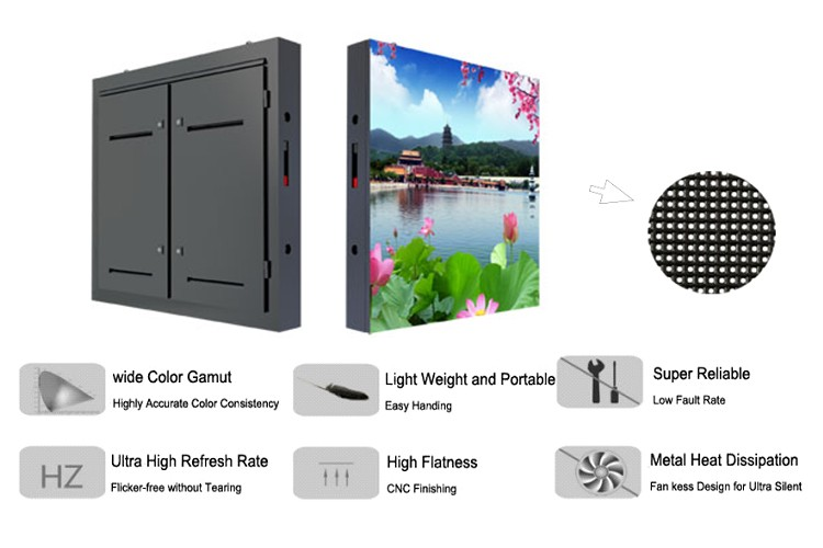Front Service Outdoor P6 Advertising Led Screen Display