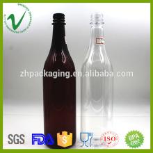 Cilindro vacío de grado alimenticio botella de plástico de plástico tapones 800ml