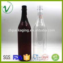 Cilindro garrafas de vinho descartáveis vazias de garrafas de vinho de nível alimentar 800ml