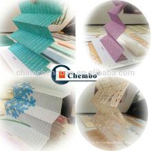 Persianas de color plisadas importadas de China