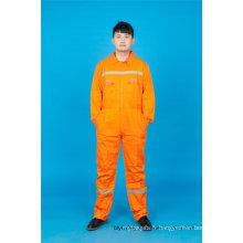 Vêtements à manches longues sécurité 65% polyester 35% coton travail avec réfléchissant (BLY1017)