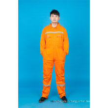 С длинным рукавом безопасности 65% полиэстер 35%хлопок рабочая одежда со светоотражающими (BLY1017)