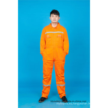 Manga larga de seguridad 65% poliéster 35% Ropa de trabajo de algodón con reflexivo (BLY1017)