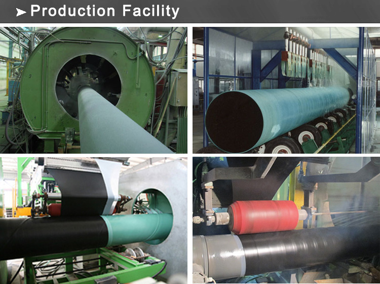 coated pipe production facility