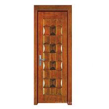 Porta de madeira maciça de alta qualidade de venda quente com design de moda (SW-819)