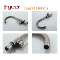 Fyeer Brass Body Nickle Brushed Kitchen Sink Faucet