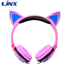 Light Up Cat Headphones pour téléphone portable