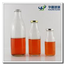 Botella de leche de botella de 1000ml 500ml 250ml vidrio