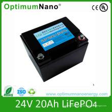 Batterie LiFePO4 Solaire Batterie au Lithium 24V 20ah