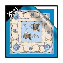 Écharpe en soie faite sur commande d'impression de Digital de conceptions personnalisées