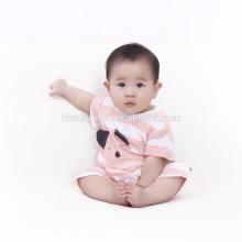 Mameluco recién nacido hecho punto algodón orgánico suave del bebé de la venta caliente 2017 y mameluco infantil de encargo