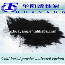 carbón activado en polvo para la purificación de aguas residuales