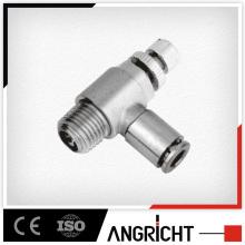 B109(MNSE)push valve Tee brass speed valves,pneumatic fitting