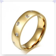 Jóia de aço inoxidável jóia de cristal anel de dedo (SR168)