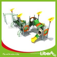 High Quality Children Amusement Park Outdoor Plastic Slides with Monkey Bars