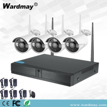 Sistem NVR WiFi Wireless CCTV 4CH 1.0MP