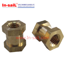 Brass Hex Head Threaed Insert Nut for Motorcyle