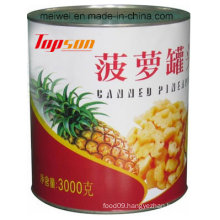 3000g Canned Pineapple From China