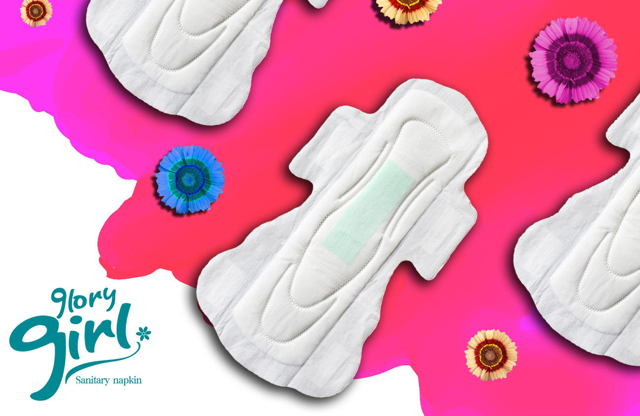 100% natural cotton sanitary napkins for overnight use