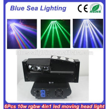 10 Watt 6 Pieces RGBW 4in1 Moving Head Led Beam/Led Spider/Beam Moving Head Light