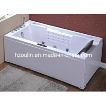 White Acrylic Sanitary Whirlpool Massage Bathtub (OL-669)
