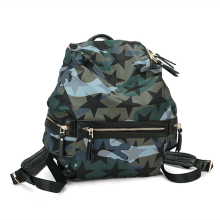 Camouflage stars decorative personality backpaag