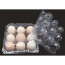 2/4/6/8/10/12/15/18/24/30 Orificios Bandeja desechable de huevos de plástico (contenedor de huevos de PVC)