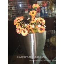 2016 Nouveau de haute qualité 304 en acier inoxydable Modern Flowerpot Décoration intérieure Jardin Modern Flowerpot