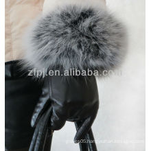 noble style rabbit fur leather glove