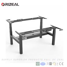 Promoción de junio Orizeal altura ajustable Moderno escritorio de oficina de dos personas sentarse escritorio de pie