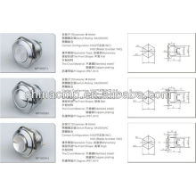 factory wholesale price export 16mm metal switch(waterproof push button switch),illumination switches