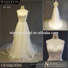 MOQ 1 PC Últimos projetos vestido de noiva vestidos de festa de meninas, vestido de noiva 2017, vestido de casamento China Guangzhou
