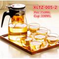 Ensemble de thé en verre Logo personnalisé de la Coupe