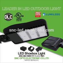 La UL ultra delgada DLC enumeró la luz del Shoebox de 150w LED con 5 años de garantía
