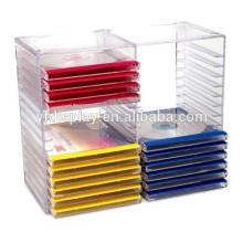 Support CD décoratif personnalisé acrylique pour un usage multiple