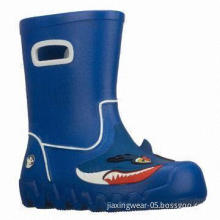 Men's Safety Plastic Rain Boot, Waterproof, Anti-acid, Customized Colors, Patterns Accepted