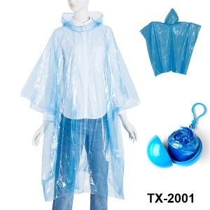 Promotional Gift PE Rain Poncho in Ball