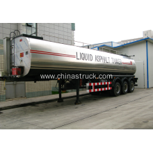 3 axle 30,000 liters liquid asphalt tanker semi-trailer