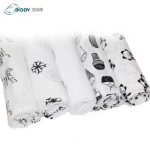 Two Layers Gauze Fabric Kid Blanket for Newborn