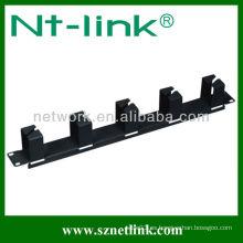 Fácil instalación 1U RJ45 horizontal cable management