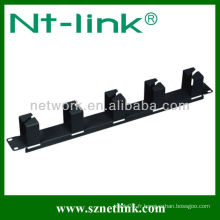Installation facile 1U RJ45 gestion horizontale des câbles