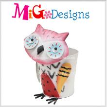 Nouveauté Design Adorable Owl Jardinière En Métal Jardinière